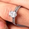 Lila Fleur de Lys ethical diamond engagement ring