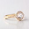Calla Brilliant Cut Halo Ring
