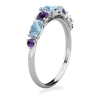 Cluster Aquamarine Iolite Ring