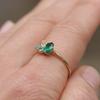 Portia Gemstone Cluster Stacking Ring