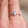 Cara 14K White Gold Aquamarine Baguette Stacking Ring
