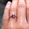 Vintage Inspired Ethical Emerald cut Garnet Ring