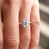 Tess Emerald Cut Micro Halo Ring