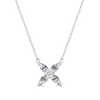 Aster Diamond or Sapphire Necklace