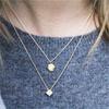 Becca Petite White or Blue Sapphire Necklace
