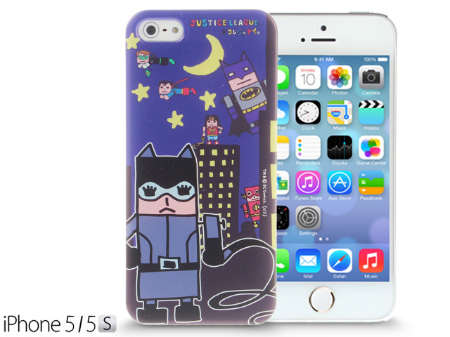 iPhone SE 5 5s 5c Comic Case Justice League X Korejanai DC Comics Heroes - Catwoman and Heroes Back Case Limited Edition CMCA030100 by IQCUBES.COM
