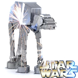 Star Wars 3D DIY Stainless Steel Mini Model Kit - AT-AT DIYC001000 by IQCUBES.COM