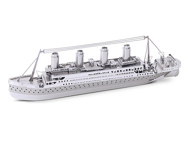 3D DIY Stainless Steel Mini Model Kit - TITANIC (DIYC010200) by IQCUBES.COM