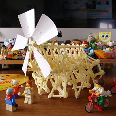 DIY Desktop Kinetic Sculpture Assembly Kit - Mini Strandbeest by IQCUBES.com DIYT003200