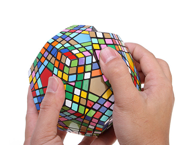 IQ Cube, Magic Cube, IQ Brick, Rubik Cube, Think BIG - The Magic HUGE Curve 12-Surface IQ Pentagon (IQBG001600) by IQCUBES.com