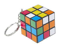 IQ Cube, Magic Cube, IQ Brick, Rubik Cube, The Tiny 3x3x3 IQ Cube KeyChain (INNV003410) by IQCUBES.COM