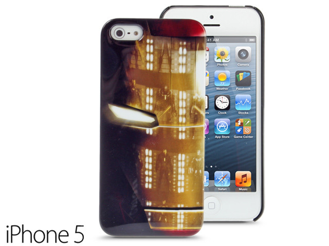 iPhone SE / 5 / 5s Comic Case MARVEL Iron Man Mask Protective Back Case Limited Edition CMCA022600 by IQCUBES.COM