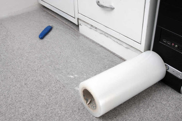 Self adhesive standard carpet protection for flat areas