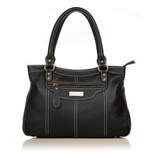 aretha 141021 Leather top handle bag black
