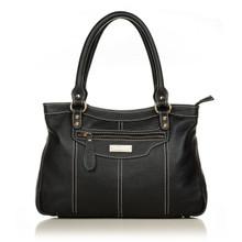 aretha 141021 Leather top handle bag black