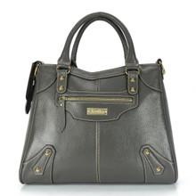 aretha 141031 Leather top handle bag grey