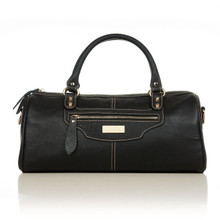 aretha 141051 Leather top handle bag black