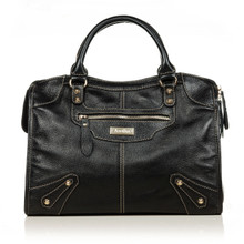 aretha 141061 Leather top handle bag black