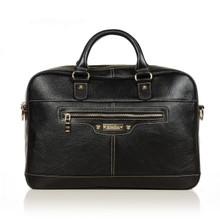 aretha 141081 Genuine Leather Briefcase black