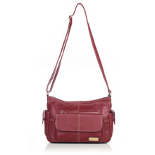 aretha 141101 Genuine Leather crossbody bags red