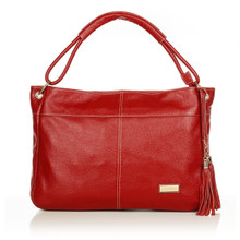 aretha 141121 Genuine Leather shoulder bag red