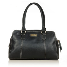 aretha 141191 Genuine Leather shoulder bag black