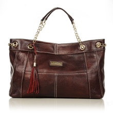 aretha 141211 Genuine Leather shoulder bag red