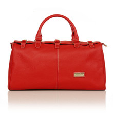 aretha 141231 Genuine Leather travel bags red