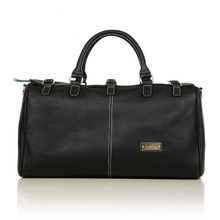 aretha 141231 Genuine Leather travel bags black