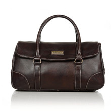 aretha 141251 Genuine Leather top handle bag coffee