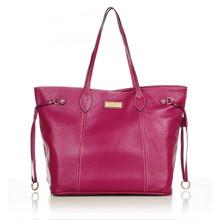 aretha 141261 Genuine Leather shoulder bag purple
