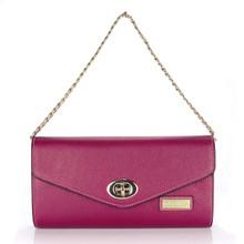 aretha 141302 Genuine Leather clutch bag purple