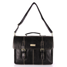aretha 142041 Genuine Leather messenger bags black