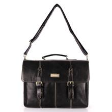 aretha 142041 Genuine Leather messenger bags black