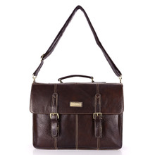 aretha 142041 Genuine Leather messenger bags coffee