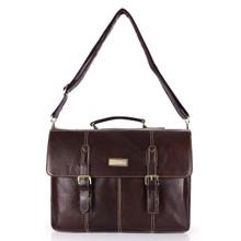 aretha 142041 Genuine Leather messenger bags coffee