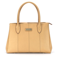 aretha 141350 Genuine Leather top handle bag khaki