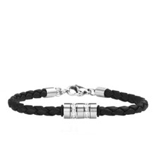 aretha BR53091-18+3 316L Stainless Steel Bracelet black