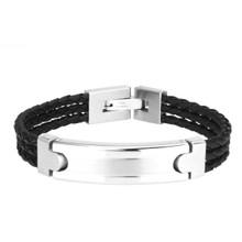 aretha BR53079-21 316L Stainless Steel Bracelet black