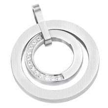 aretha P52217 316L Stainless Steel Pendant silver