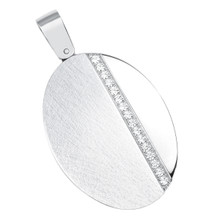 aretha MOP264A 316L Stainless Steel Pendant silver