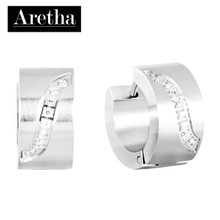 aretha ER52141 316L Stainless Steel Earrings silver