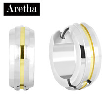 aretha ER62015 316L Stainless Steel Earrings silver