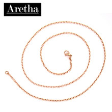 aretha CH82798-50 316L Stainless Steel Necklace rose gold