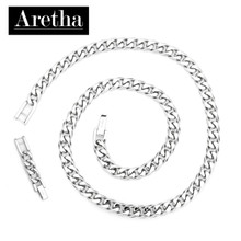 aretha CH50474-47+5 316L Stainless Steel Necklace silver