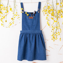 New Woocao funny Skirt Denim Cotton Garden kitchen Party Bbq Apron With Pockets