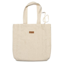 New Unisex Linen Shopping Tote / Shoulder handbag Casual style Large in White