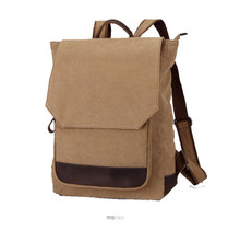Canvas vintage men laptop backpack school bag