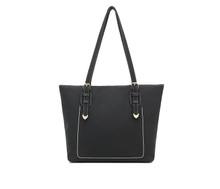 Leather women girl large school shoulder handbag