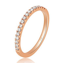 Stackable Diamond Wedding claw set Band Half-Way Around Ring in 18K Gold Customize